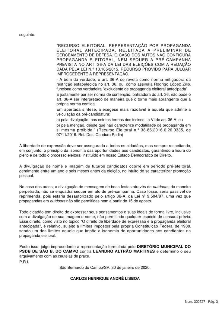 Sentença - Diretório PSDB - SBC x Leandro Altrao Martines-4